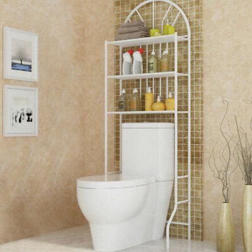 3 Shelf Over The Toilet Bathroom Space Saver Towel Storage Rack