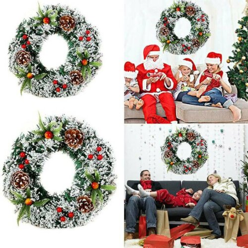 Wall Hanging Christmas Wreath Decoration Party Door Garland Ornament