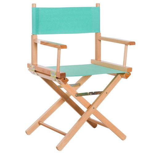 HOMCOM Wooden Folding Directors Chair Oxford Fabric Seat Beech Natural Wood