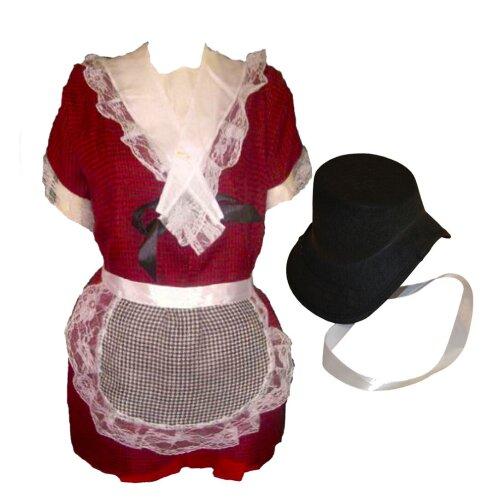 3 PCS Kids Girls St Davids Day Welsh Lady Costume