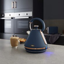 Cavaletto 1.7L 3kW Pyramid Midnight BLUE & Rose Gold Kettle