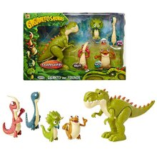 """Gigantosaurus Figures Giganto & Friends Toy Action Figures Includes: Giganto Mazu Bill Tiny & Rocky - Articulated Characters Range from 2.5-5.5"""" Tall"""