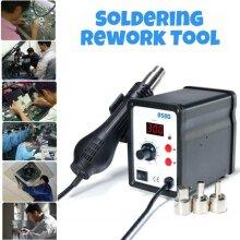 858D 220V SMD Soldering Desoldering Iron Station Hot Air Rework Gun Tool