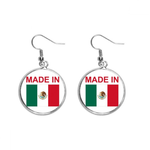 Made In Mexico Country Love Ear Dangle Silver Drop Earring Jewelry Woman