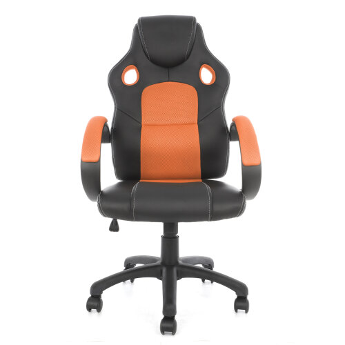 (Orange) Adjustable Office Chairs Sport Racing Gaming Office Chair With Lumbar Support