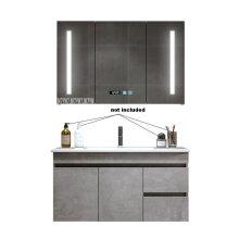 Modern Bathroom Cabinet & Multifunctional Antifog Solid Wood Wall Mounted Cabinet