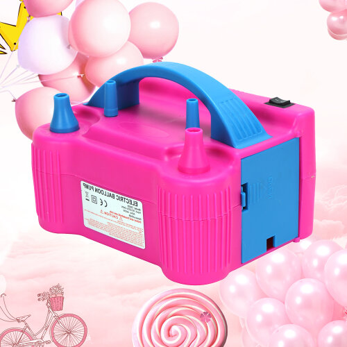 2Nozzle Party Portable 600W Electric Balloon Pump Inflator Air High Power Blower