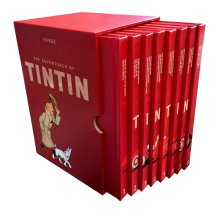 Herge 8 Books Collection Box Set Adventures of Tintin