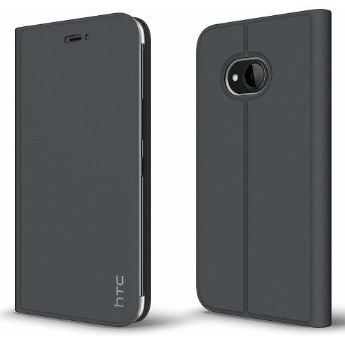 Genuine Official HTC U11 life Dark Grey Flip Case Stand Wallet Cover - HC C1352