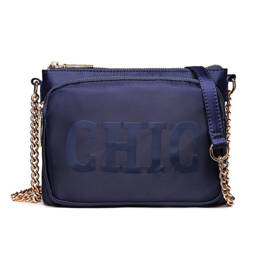 Miss Lulu Women's 'Chic' Cross Body Chain Bag Shoulder Bag Blue