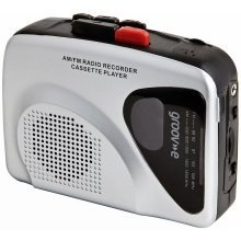 Groov-e Retro Personal Cassette Player and Recorder with Earphones - Silver - GVPS525SR