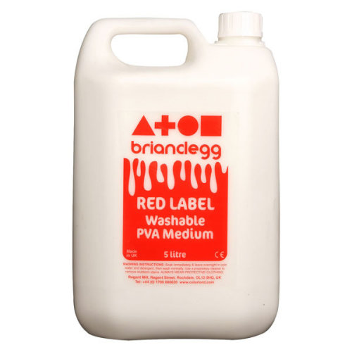 1 Pack - Brian Clegg Red Label Washable PVA Glue 5 Litre