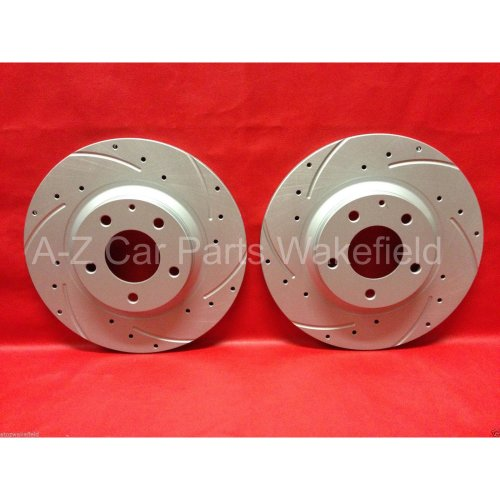 Mazda RX8 RX-8 03-10 1.3 2.6 rear drilled and grooved brake discs kinetix 302mm