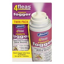 Johnson's Vet 4 Fleas Room Fogger Spray Twin Pack