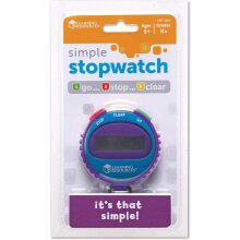 Learning Resources Simple Stopwatch Clock Time Keeping - Colours Vary