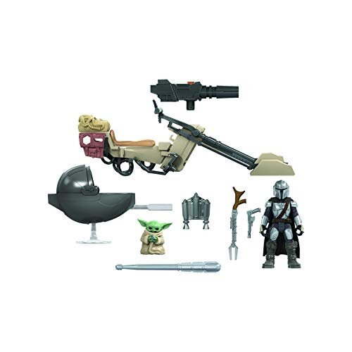 Star Wars Mission Fleet Expedition Class The Mandalorian The Child Battle for the Bounty 6-cm-Scale Figures and Vehicle, Children Aged 4 and Up