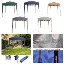BIRCHTREE Gazebo Pop Up Waterproof Marquee Canopy Garden Wedding Party Tent 2x2M