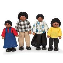 Tidlo Wooden Multicultural Dolls - Black Family
