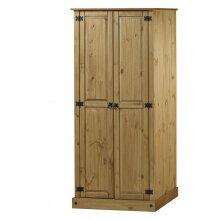 Corona Budget 2 Door Wardrobe Storage Solid Pine Bedroom Furniture