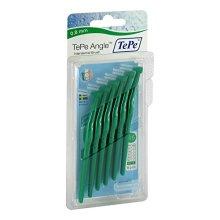 Tepe Angle Brush 0 8Mm Green 6 Brushes Per Pack