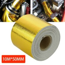 50mm * 10M Roll Adhesive Reflective Gold High Temperature Heat Shield
