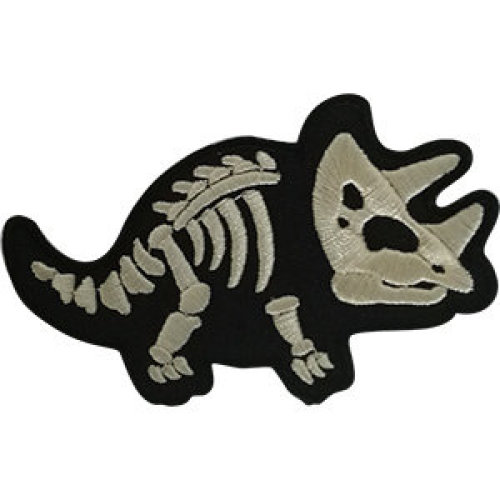 Patch - Dinosaurs - X- ray Triceratops Icon-On p-dsx-4810
