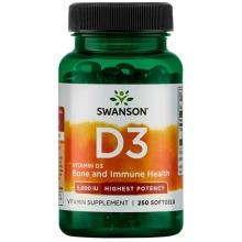 Swanson High Potency Vitamin D3 5000iu x 250 Softgels