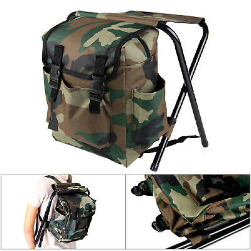 2 in 1 Fishing Hunting Stool Backpack Rucksack Seat Chair Bag Camping
