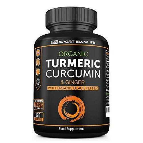 Organic Turmeric Capsules High Strength and Black Pepper Curcumin with Ginger 1380mg - Advanced Tumeric Tablets (Tablet) - Each 120 Veg Capsule is O