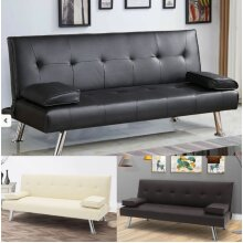 3 Seater Sofa Bed Faux Leather Various Colours