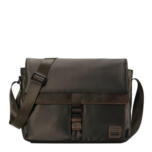 TRP0524 Troop London Heritage Nylon Messenger Bag, Laptop Messenger Bag