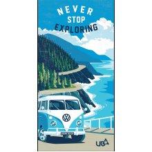 "VW Sage Towel ""Never Stop Exploring"""