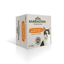 Harringtons Complete Wet Cat Food Chicken in Gravy 8x85g, pack of 4 (32 pouches)