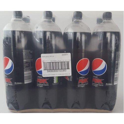 Pepsi Max 8 x 2L