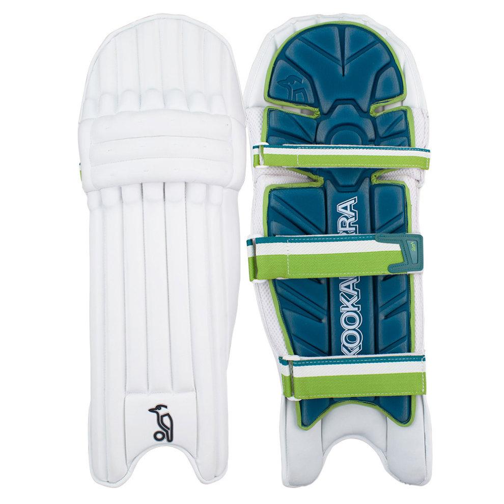 KOOKABURRA 2019 Kahuna 2.0 Cricket Batting Pads Leg Guards White//Green