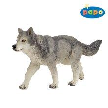 Papo Grey Wolf Toy Figurine - Figure Wild Animal 53012 Kingdom New -  papo grey wolf figure wild animal 53012 kingdom new