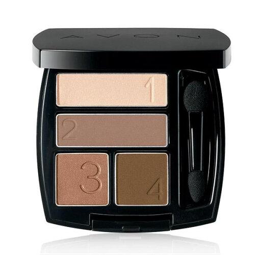 (Mocha Latte) Avon True Color Multi-Finish Eyeshadow Quad