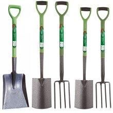 Kingfisher Heavy-Duty Steel Digging & Border Gardening Tools