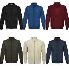 Lambretta Mens Target Logo Shower Resistant Casual Retro Harrington Jacket Coat