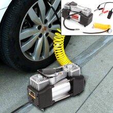 HEAVY DUTY 12V ELECTRIC CAR TYRE INFLATOR 100PSI AIR COMPRESSOR PUMP