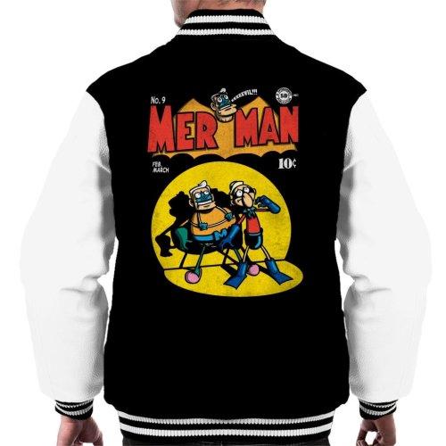 Mer Man Comic Cover Men's Varsity Jacket