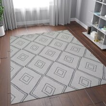 100% Cotton Rug Grey Diamond Pattern Washable Flat Weave Mat Carpet Small Extra Large Runner