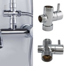 Round Shower 3 Way Diverter Valve Part Water Segregator Handheld Replacement Ace