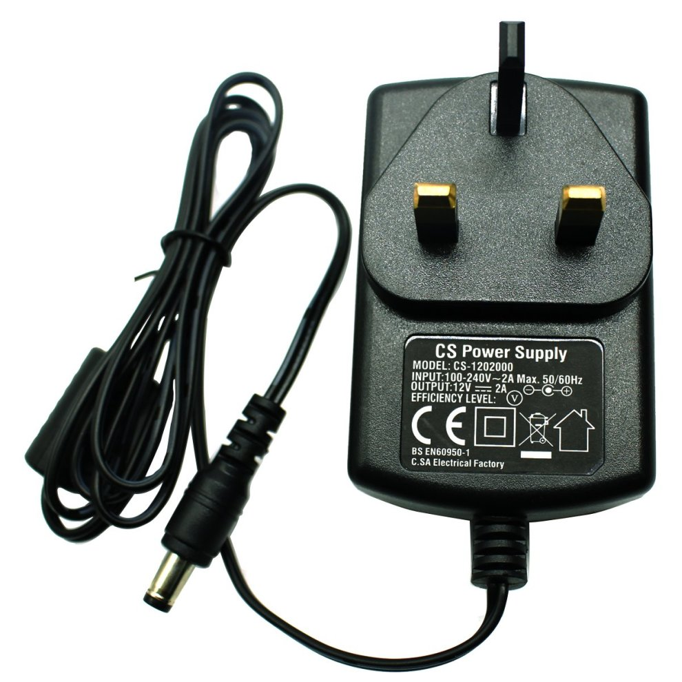 DC 12V 2A Power Supply Adapter 4 Split Power Cable for CCTV Security Camera DVR