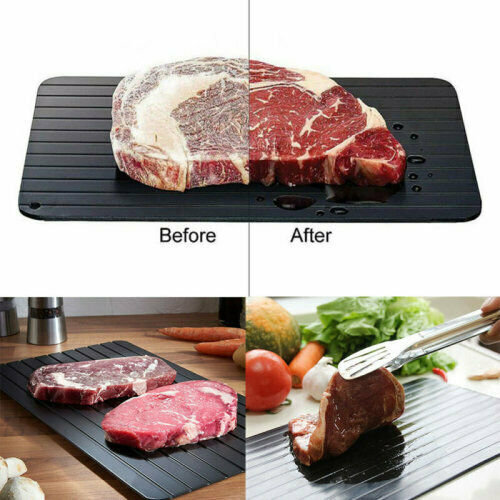 Fast Defrosting Tray Plate Kitchen Defrost Meat Frozen Food Safety Tool Non Stick