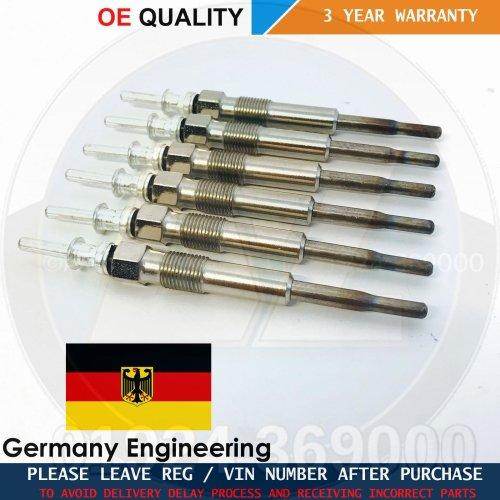 FOR BMW E46 330d DIESEL HEATER GLOW PLUGS SET 12237786869 GLOWNITION GERMANY X6