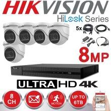 HIKVISION 8MP CCTV 4K UHD DVR 8CH OUTDOOR 5X VIVID HD CAMERA KIT(1TB)