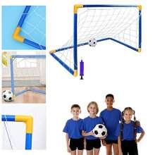Coolbitz Children 92CM Portable Football Goals Set Out and IN-2x3x2ft