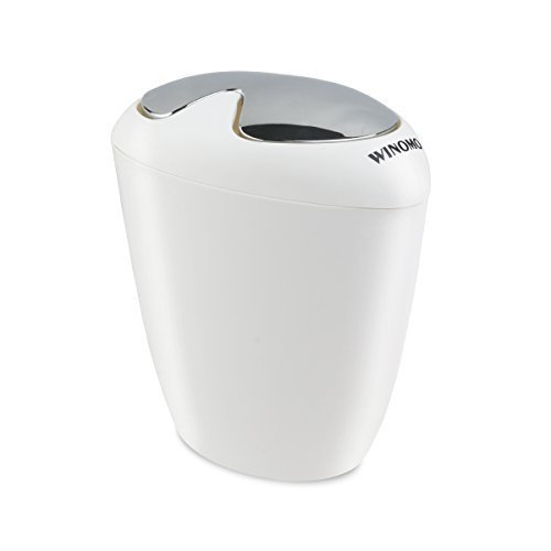1.75 Gallon ... WINOMO Trash Bin Can Oval with Swing Top Lip 6.5 Liter