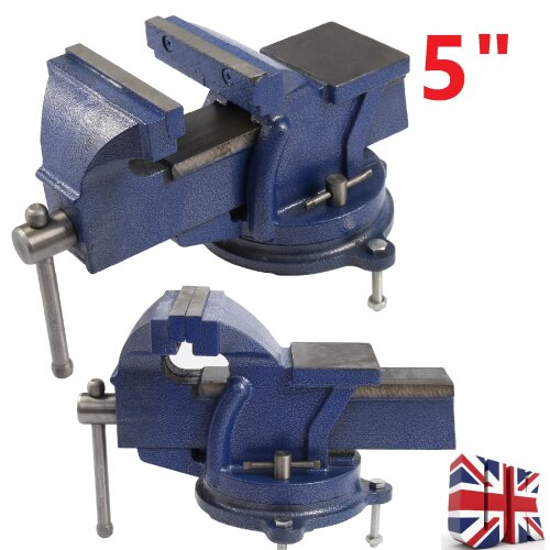 "5"" 125mm Work Bench Vice Vise Workshop Clamp Engineer Jaw Swivel Base"